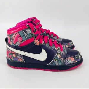 Nike Shoes - Nike Women's Grand Dunk hi-top floral sneakers 7